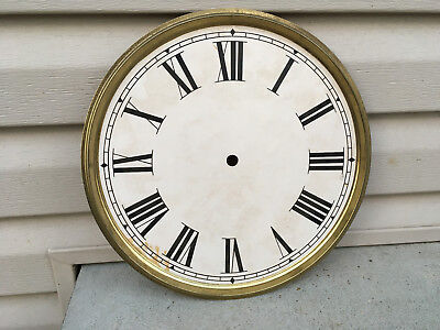 "Vintage 12"" Clock Face Brass Plate For Parts / Repair ML144A"