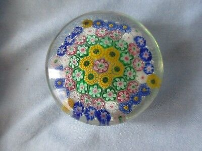 Vintage Concentrie Millefiori Paperweight
