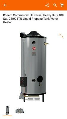 Rheem commercial universal heavy duty water heater LP. New in crate.