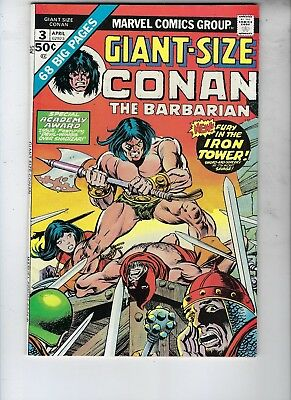Giant-Size Conan The Barbarian #3-NM-, #4-NM, 5-VF, Elric, The Wizard, Bronze Ag