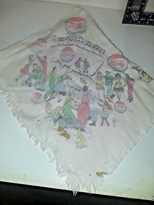 Pepsi Cola Hankerchief  Napkin Pepsi Cola hits the spot song on it Antique RARE