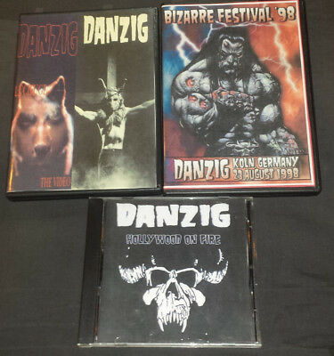 Danzig: 2 DVD's Germany 1998 & Lucifuge The Video+CD Hollywood On Fire 1989