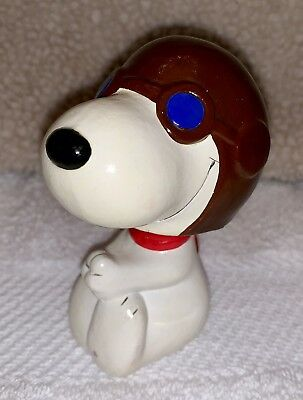 Vintage Peanuts Snoopy Flying ACE Bobblehead Figure