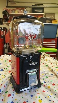 Early Antique Victor Topper Gumball Vending Machine 1950's Restored
