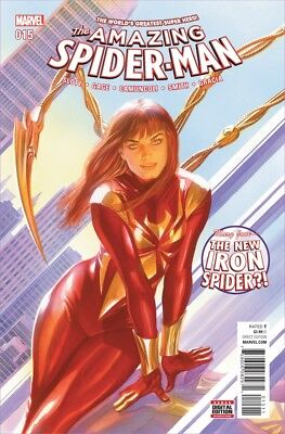 Amazing Spiderman 15 1st print Mary Jane MJ as Iron Spider Alex Ross cover NM