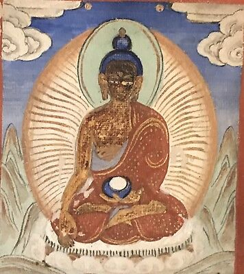 Mongolian Thangka Miniature Painting Buddha Old