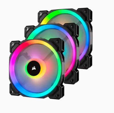 Corsair LL120 RGB 120mm 3-pack with Lighting Node Pro CO-9050072-WW