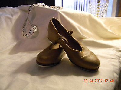 BLOCH Tap shoes Youth size 13.5 Tan color