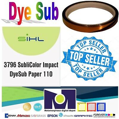 "Sublimation Paper - MADE IN GERMANY- size 8.5""x11"" 100 Sh + 1 Roll Thermal Tape"