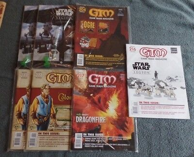 Lot of 7 GTM Game Trade Magazines NEW 204, 214, 215, 216, 217
