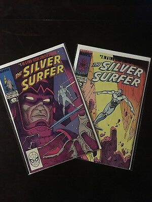 Silver Surfer #1 and 2 Lot VF/NM