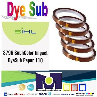 "Sublimation Paper - MADE IN GERMANY- size 8.5""x11"" 100 Sh + 5 Rolls Thermal Tape"
