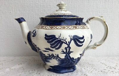 Royal Doulton China, Booths 'Real Old Willow' (TC1126) Pattern, Pot w/Lid (125)