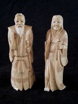 Pair of antique Japanese carved Netsukes, circa 1800'