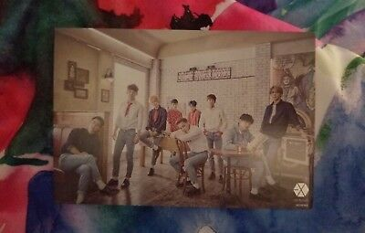 Official EXO Love Me Right ~romantic universe~ Pre-Order Postcard Japanese Press