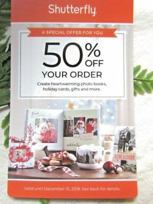 Shutterfly Promotion Code 50% OFF Your Order Exp 12/27/18