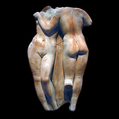 Two Graces nude female girls torso wall Sculpture