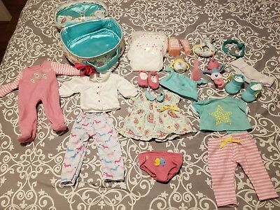 American Girl Bitty Baby Doll Clothes and Accessories 22 pieces