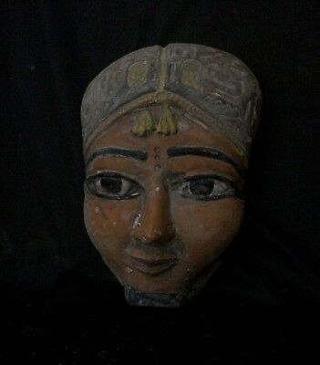 ANCIENT EGYPTIAN STATUE EGYPT Pharaoh Mask Queen Hatshepsut Stone 1507–1458 BC