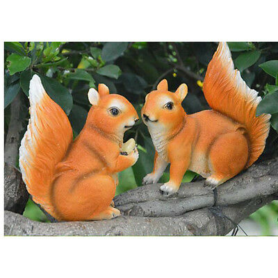 Garden Squirrel Statue Outdoor Home Decor Yard Sculpture Patio Lawn Figurine