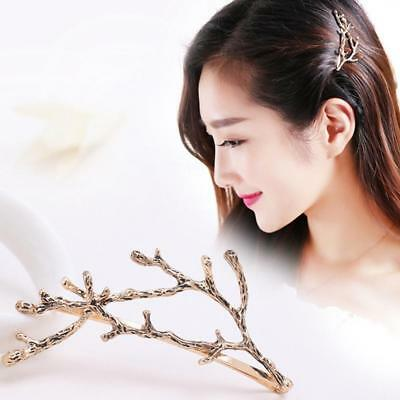 Gold/Silver Womens Girl Hairpin Tree Branch Shape Hair Clip Chic Accessories