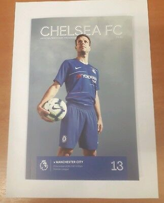 Chelsea Vs Manchester City unread mint matchday programme with teamsheet 081218