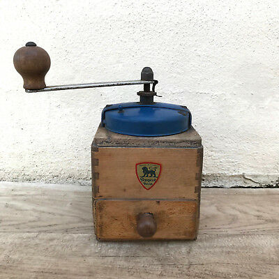 Vintage French Peugeot Freres Coffee Grinder White Metal 1811183