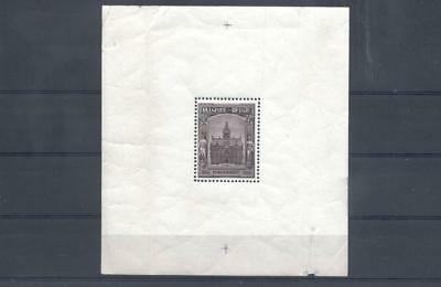 (955548) Architecture, Belgium - sheetlet not nice, stamp is MNH. -