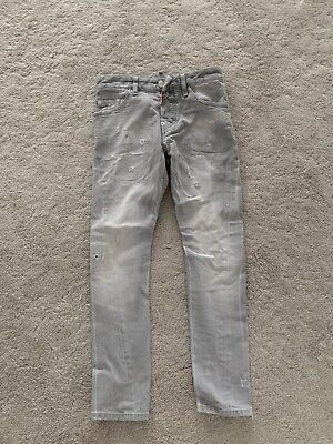 Boys Grey Skinny Dsquared Jeans Age 12