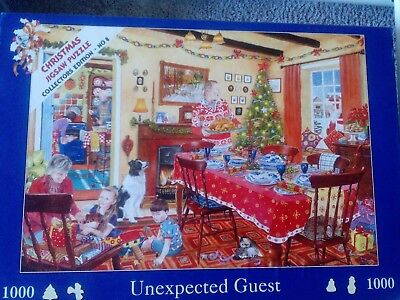 Weihnachts-Puzzle 1000 Teile House of Puzzle Unexpected Guest