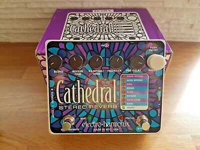 Electro Harmonix - Cathedral Stereo Reverb Guitar Effects Pedal - EHX