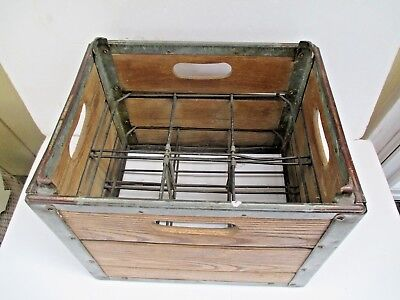 Old Vintage Wood Metal Wire Insert Sealtest Foods Milk Dairy Beverage Crate 6343