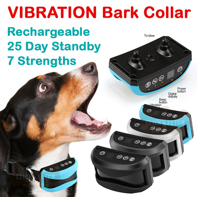 LCD Automatic 25 Day Rechargeable Barking Vibration Collar Anti Bark Training