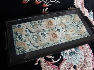 Antique Chinese silk hand embroidery sleeves