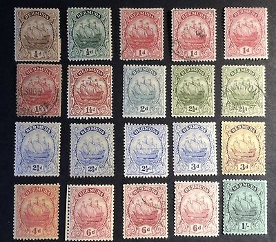 BERMUDA 1922-34 Stamps to 1/- MM and Used