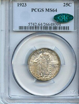 1923-P Standing Liberty Quarter (MS-64) PCGS & CAC!!! REALLY NICE!!!!!