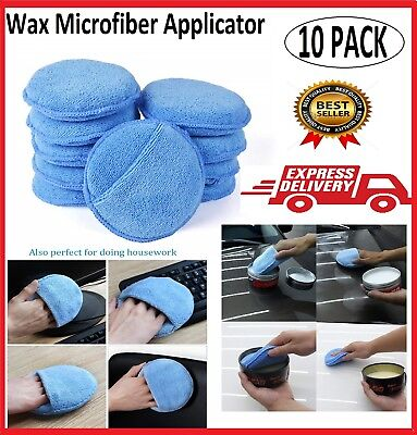 10 Wax Microfiber Applicator Car Sponge Pad Polishing Pads Soft Care Auto Polish