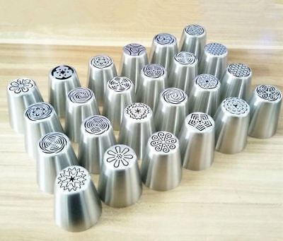 Russian Tulip Xmas Cake Icing Piping Nozzles Decor Tips Baking Stainless Tools