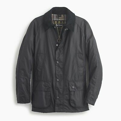 Barbour Men's Ashby Waxed Jacket, New with Tags, Navy Blue, Large