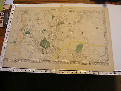 Bacon's England late 1800's map: sheet 8, kent, CRYSTAL PALACE, Heckenham peace