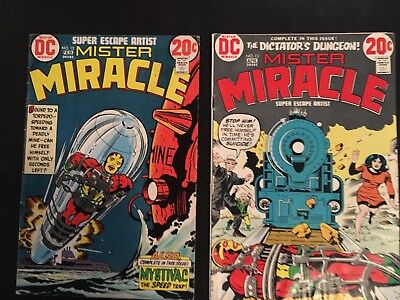 Mister Miracle #12 #13 (1973, DC) Fine Condition, Jack Kirby Art