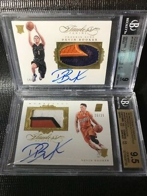 BGS 9.5/BGS 9 2015-16 DEVIN BOOKER Flawless Patch On Card AUTO RPA /25 PICK CARD