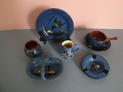 Collection of Devon Ware Pottery ~ Kingfisher Blue