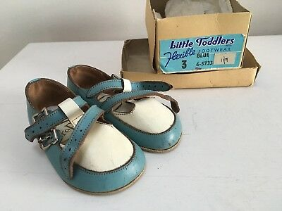 "Vintage 1940s TIMPSON ""Little Toddlers"" childrens shoes in box. Museum quality"