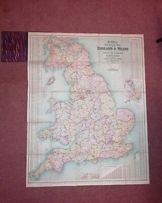Bacon's Excelsior Map Of England And Wales