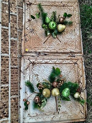 ANTIQUE CEILING TIN Repurposed With Changeable Fruit And Floral Embellishments