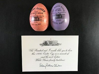 1996 / 1995 White House Easter Egg / Hillary Rodham Clinton Note