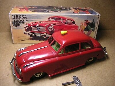 MS 1800 Seidel Borgward Hansa 1800 Diesel Limo Germany 50er Tin Car Tole Latta