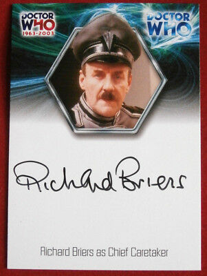 DOCTOR WHO - RICHARD BRIERS as Chief Caretaker - Autograph Card - 2003
