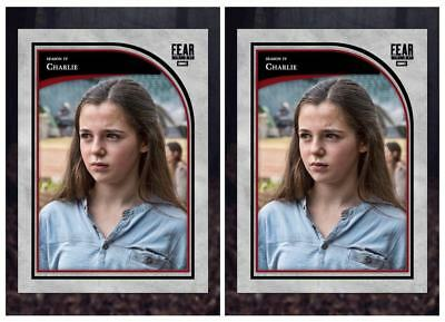 2X FEAR FOCAL POINT WAVE 2 RED MARATHON CHARLIE Walking Dead Card Trader Digital